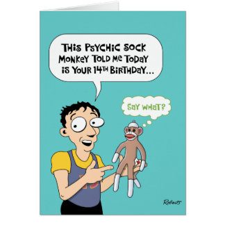 Funny 14th Birthday Psychic Greeting Card