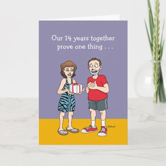 Funny Wedding Anniversary: Funny 14th Wedding Anniversary Card