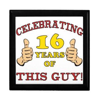 Funny 16th Birthday For Boys Trinket Boxes
