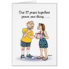 Funny 17th Anniversary Love Card