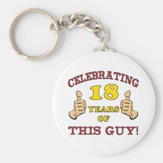 Funny 18th Birthday For Boys Keychain