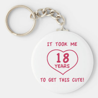 Funny 18th Birthday Gifts (Heart) Keychain
