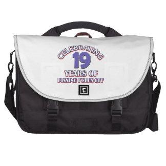 FUNNY 19 year birthday designs Laptop Bag