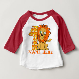 Funny 1 year old lion shirt