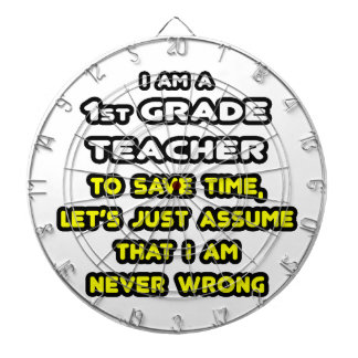 Funny 1st Grade Teacher T-Shirts and Gifts Dartboard