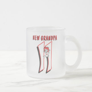 Funny 2011 New Grandpa Frosted Glass Coffee Mug