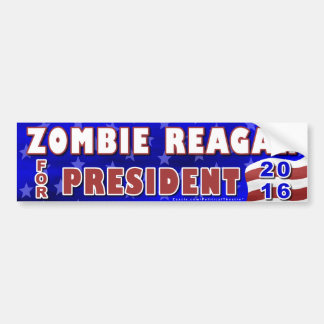 Funny 2016 Election Parody Zombie Reagan Bumper Sticker