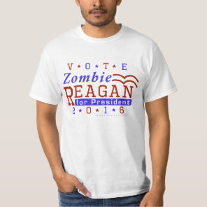 Funny 2016 Election Parody Zombie Reagan T-Shirt