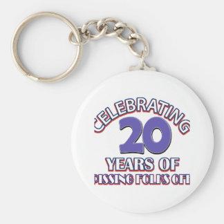 FUNNY 20 year birthday designs Keychain