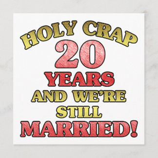 Funny 20th Anniversary Card