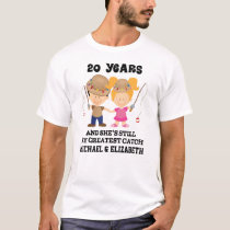 Funny 20th Anniversary Personalized Husband Tshirt