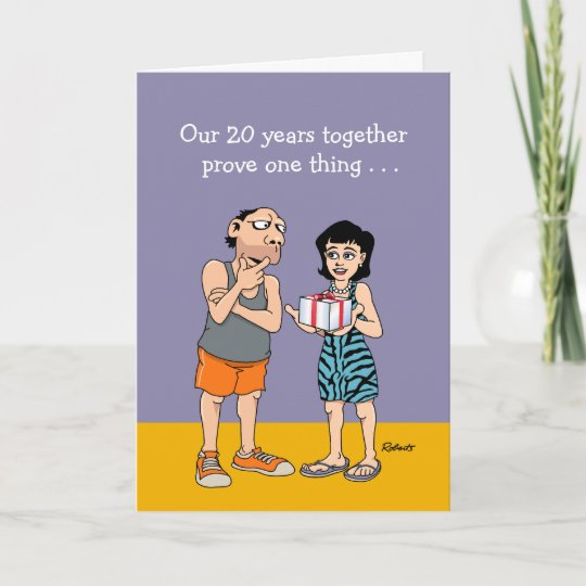 Funny Wedding Anniversary: Funny 20th Wedding Anniversary Card
