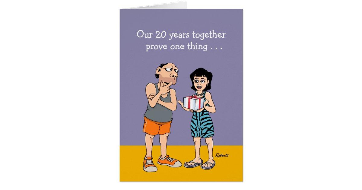 Funny 20th Wedding Anniversary Card   Zazzle.com
