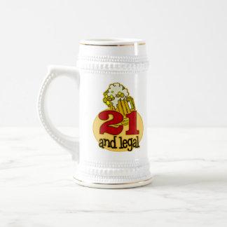 Funny 21st Birthday Gift 18 Oz Beer Stein