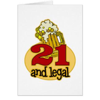 Funny 21st Birthday Gift Card