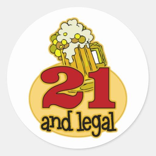 Funny 21st Birthday Gift Classic Round Sticker