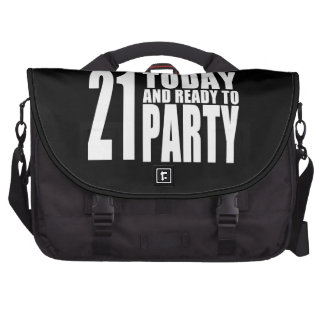 Funny 21st Birthdays : 21 Today and Ready to Party Computer Bag