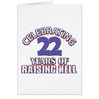 FUNNY 22 year birthday designs Card
