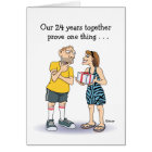 Funny 24th Anniversary Card