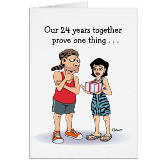 24th anniversary cards