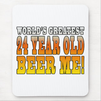 Funny 24th Birthdays : Worlds Greatest 24 Year Old Mouse Pad
