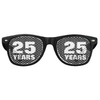 Funny 25th Wedding Anniversary party shades