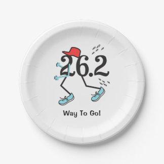 Funny 26.2 Marathoner Way to Go Marathon Runner 7 Inch Paper Plate