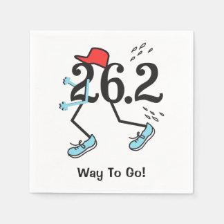 Funny 26.2 Marathoner - Way to Go Runner Standard Cocktail Napkin