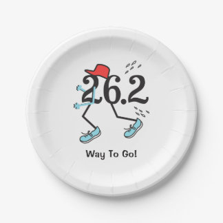 Funny 26.2 Marathoner - Way to Go Runner 7 Inch Paper Plate