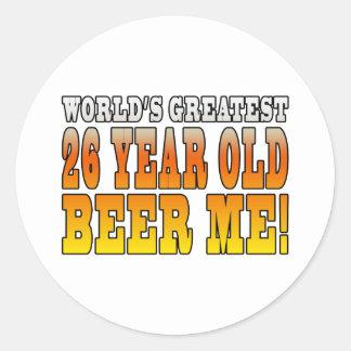 Funny 26th Birthdays : Worlds Greatest 26 Year Old Classic Round Sticker