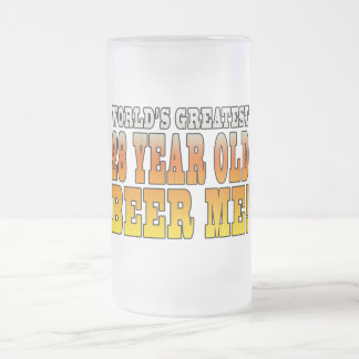 Funny 28th Birthdays : Worlds Greatest 28 Year Old Frosted Glass Beer Mug
