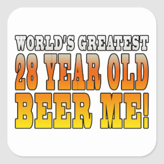 Funny 28th Birthdays : Worlds Greatest 28 Year Old Square Sticker
