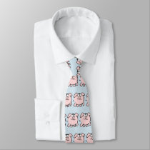 Funny 2 Cartoon Pig  Year 2019 Choose Color Tie