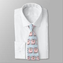 Funny 2 Cartoon Pig Year Birthday Choose Color Tie