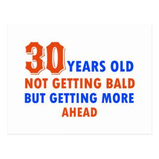 funny 30 years old birthday design postcard