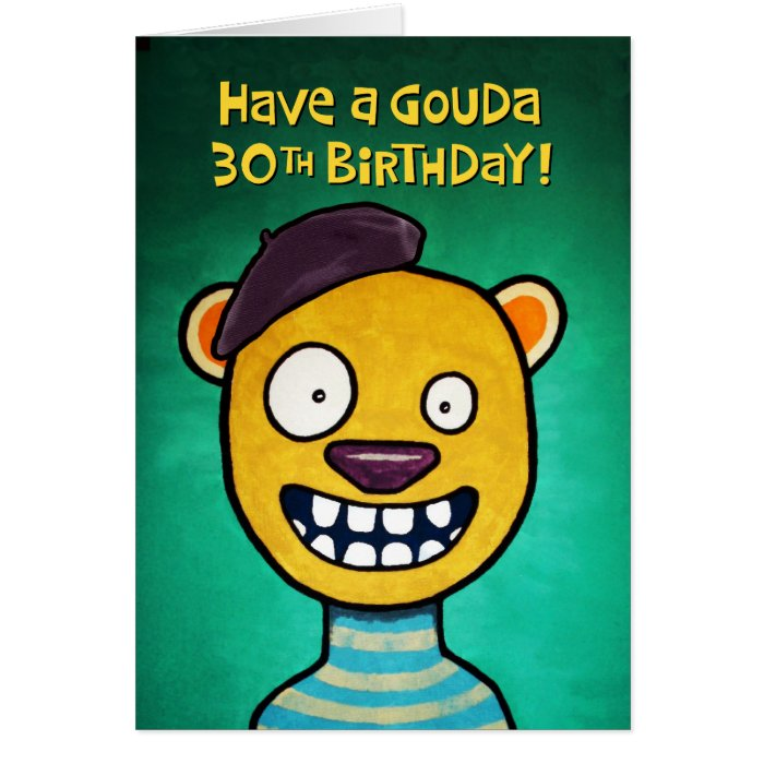 Funny 30th Birthday Card For Her
