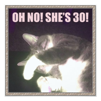 Funny 30th Birthday (Cat) Card