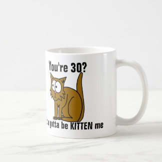 Funny 30th Birthday, Cat coffee mug