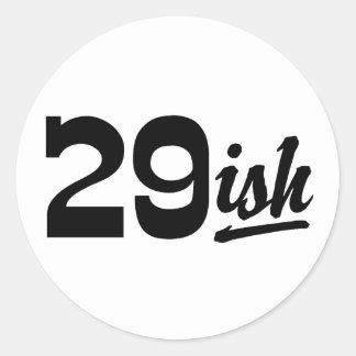 Funny 30th Birthday Classic Round Sticker