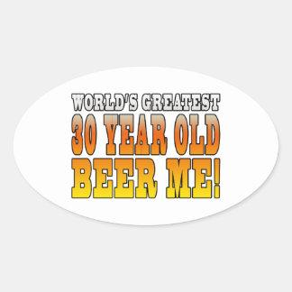 Funny 30th Birthdays : Worlds Greatest 30 Year Old Oval Sticker
