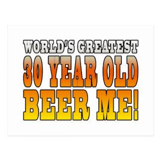 Funny 30th Birthdays : Worlds Greatest 30 Year Old Postcard