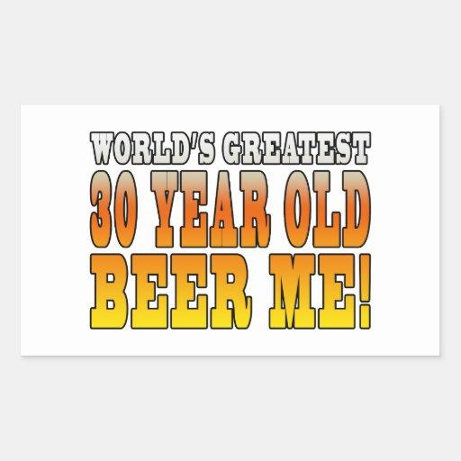 Funny 30th Birthdays : Worlds Greatest 30 Year Old Rectangular Sticker