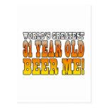 Funny 31st Birthdays : Worlds Greatest 31 Year Old Postcard
