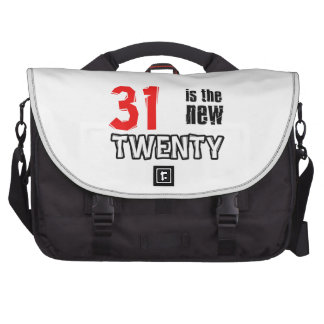 Funny 31th year designs computer bag