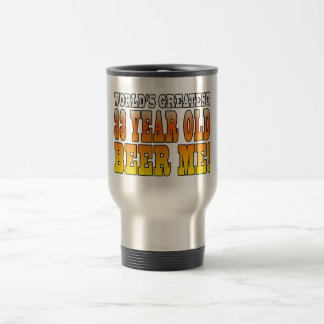 Funny 33rd Birthdays : Worlds Greatest 33 Year Old 15 Oz Stainless Steel Travel Mug