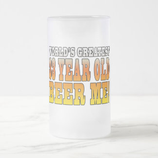Funny 33rd Birthdays : Worlds Greatest 33 Year Old Frosted Glass Beer Mug