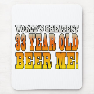 Funny 33rd Birthdays : Worlds Greatest 33 Year Old Mouse Pad