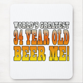 Funny 34th Birthdays : Worlds Greatest 34 Year Old Mouse Pad