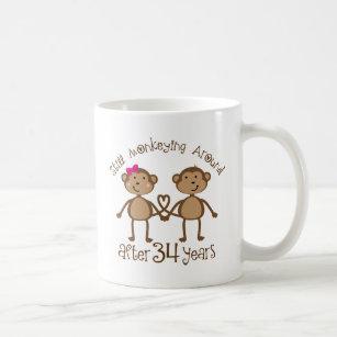 Funny 34th Wedding Anniversary Gifts Coffee Mug