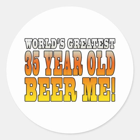 Funny 35th Birthdays : Worlds Greatest 35 Year Old Classic Round Sticker